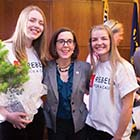 Rachel Mackley, Governor Kate Brown, Emma Monson